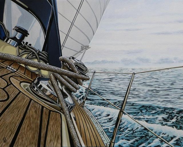Une fenêtre sur l'horizon, peinture de LO