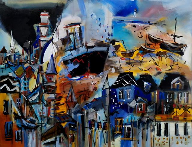 Le Pays de Concarneau, peinture de Muriel Cayet