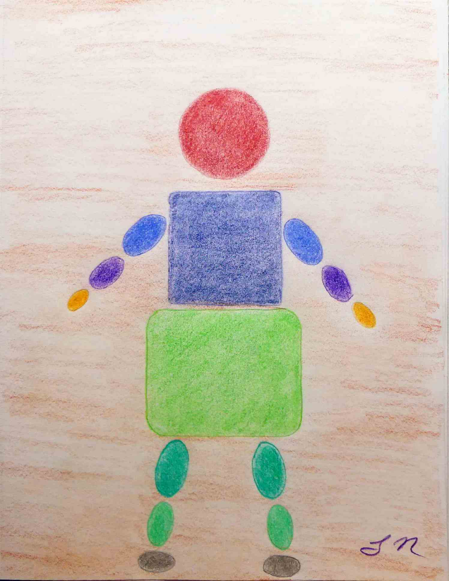 """<span style=""""color: #ff0000;""""><a style=""""color: #ff0000;"""" href=""""mailto:lucnadon7@gmail.com?subject=Défi 15 dessins 15 semaines - Formes et couleurs""""> Contacter l'artiste</a></span> Luc Nadon - Formes et couleurs - 35$  (transaction directement avec l'artiste) - Crayon de couleurs Faber Castell sur papier Strathmore 89g, 12 x9 po, encadré"""