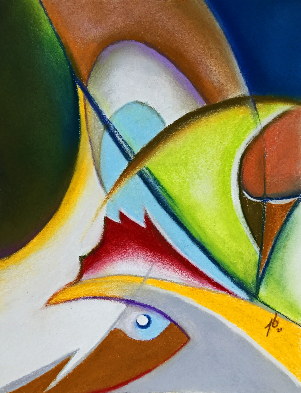 """<span style=""""color: #ff0000;""""><a style=""""color: #ff0000;"""" href=""""mailto:pbureau@hotmail.com?subject=Défi 15 dessins 15 semaines - Onde de coq"""">Contacter l'artiste</a></span> Pierre Bureau - Onde de coq - 150 $ (transaction directement avec l'artiste) - pastel sec sur papier-coton BFK - 32 x 24 cm"""