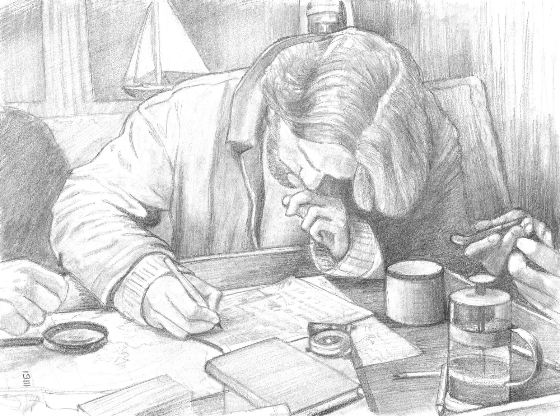 """<span style=""""color: #ff0000;""""><a style=""""color: #ff0000;"""" href=""""mailto:info@loartiste.com?subject=Défi 15 dessins 15 semaines - Plan sur la comète""""> Contacter l'artiste</a></span> Lo - Plan sur la comète - 150$  (transaction directement avec l'artiste) - Crayon graphite sur papier - environ 23 x 30 cm"""