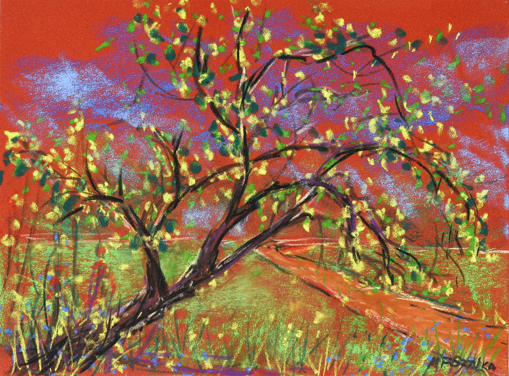 """<span style=""""color: #ff0000;""""><a style=""""color: #ff0000;"""" href=""""mailto:mfsztuka@orange.fr?subject=Défi 15 dessins 15 semaines - Printemps 21"""">Contacter l'artiste</a></span> Marie-Françoise Sztuka - Printemps 21 - 40 euros (transaction directement avec l'artiste) - pastels secs sur papier cartonné - 25x33 cm"""