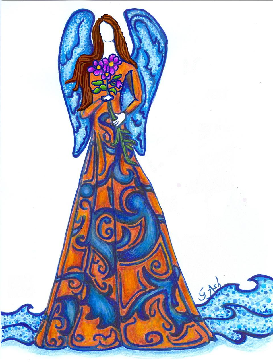 """<span style=""""color: #ff0000;""""><a style=""""color: #ff0000;"""" href=""""mailto:marie.laura@@videotron.ca?subject=Défi 15 dessins 15 semaines - Grâce et élégance"""">Contacter l'artiste</a></span> Ginette Ash - Grâce et élégance - 150 $ (transaction directement avec l'artiste) - Techniques mixtes sur papier - 14 x 11 po"""