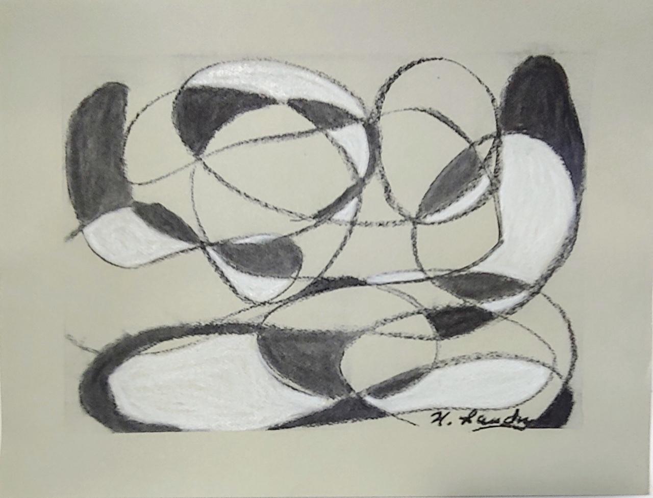 """<span style=""""color: #ff0000;""""><a style=""""color: #ff0000;"""" href=""""mailto:nathalielandry7@gmail.com?subject=Défi 15 dessins 15 semaines - Sans titre""""> Contacter l'artiste</a></span> Nathalie Landry - """"Sans titre"""" - 55$  (transaction directement avec l'artiste) - Fusain et pastel Papier pastel vert pâle fini texturé Strathmore 118g -  9x12 po encadré"""