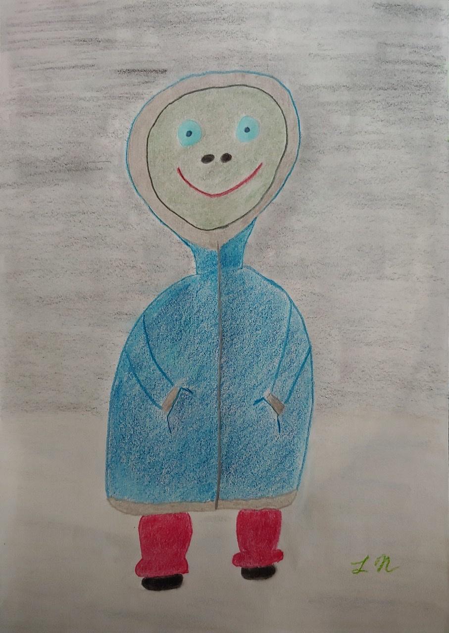 """<span style=""""color: #ff0000;""""><a style=""""color: #ff0000;"""" href=""""mailto:lucnadon7@gmail.com?subject=Défi 15 dessins 15 semaines - Et hivers""""> Contacter l'artiste</a></span> Luc Nadon -  Et hivers - 35$  (transaction directement avec l'artiste), crayon de couleur sur papier Strathmore sketch série 400, 90g, 12x9 po encadré"""