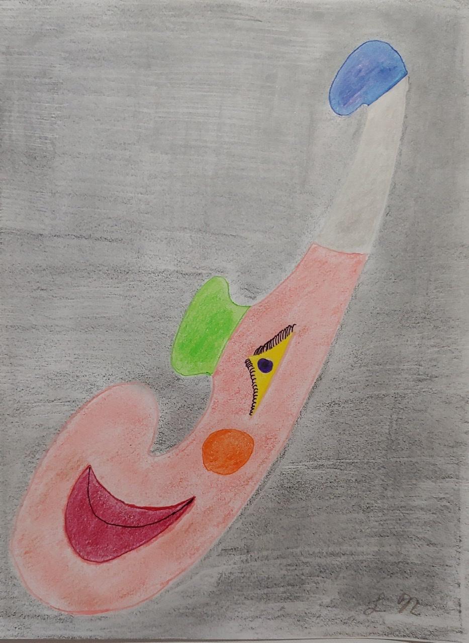 """<span style=""""color: #ff0000;""""><a style=""""color: #ff0000;"""" href=""""mailto:lucnadon7@gmail.com?subject=Défi 15 dessins 15 semaines -  Pierrot""""> Contacter l'artiste</a></span> Luc Nadon -  Pierrot - 35$  (transaction directement avec l'artiste), crayon de couleur sur papier sketch blanc Strathmore 89g, 12x9 po encadré."""