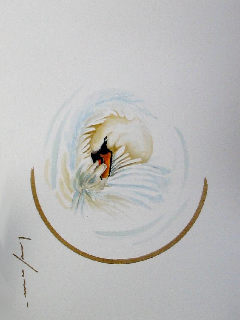 """<span style=""""color: #ff0000;""""><a style=""""color: #ff0000;"""" href=""""mailto:froy1956@gmail.com?subject=Défi 15 dessins 15 semaines - L'Essentiel""""> Contacter l'artiste</a></span> Marie-France Roy -  L'Essentiel - 150$  (transaction directement avec l'artiste) - aquarelle, crayon pigment or sur carton aquarelle Fabriano - 12 x 9 po"""