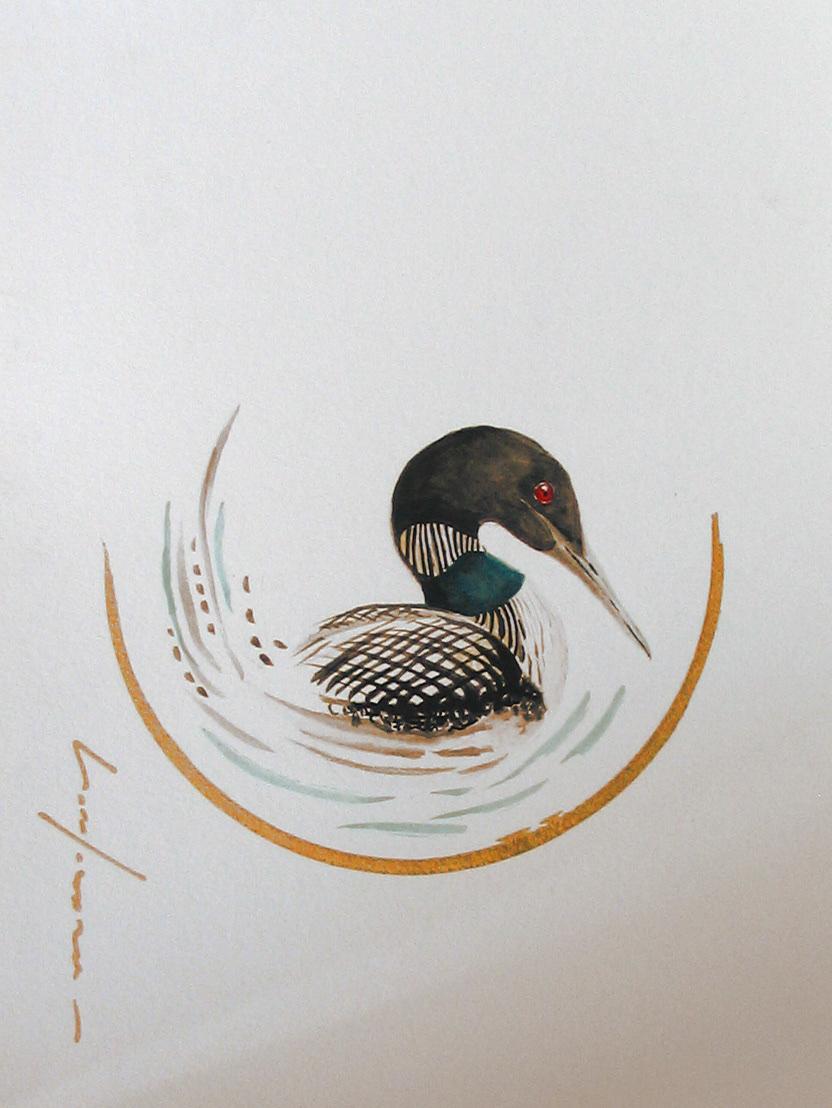 """<span style=""""color: #ff0000;""""><a style=""""color: #ff0000;"""" href=""""mailto:froy1956@gmail.com?subject=Défi 15 dessins 15 semaines -  Élégante portée musicale""""> Contacter l'artiste</a></span> Marie-France Roy -   Élégante portée musicale - 150$  (transaction directement avec l'artiste) - aquarelle, crayon pigment or sur carton aquarelle Fabriano - 12 x 9 po"""