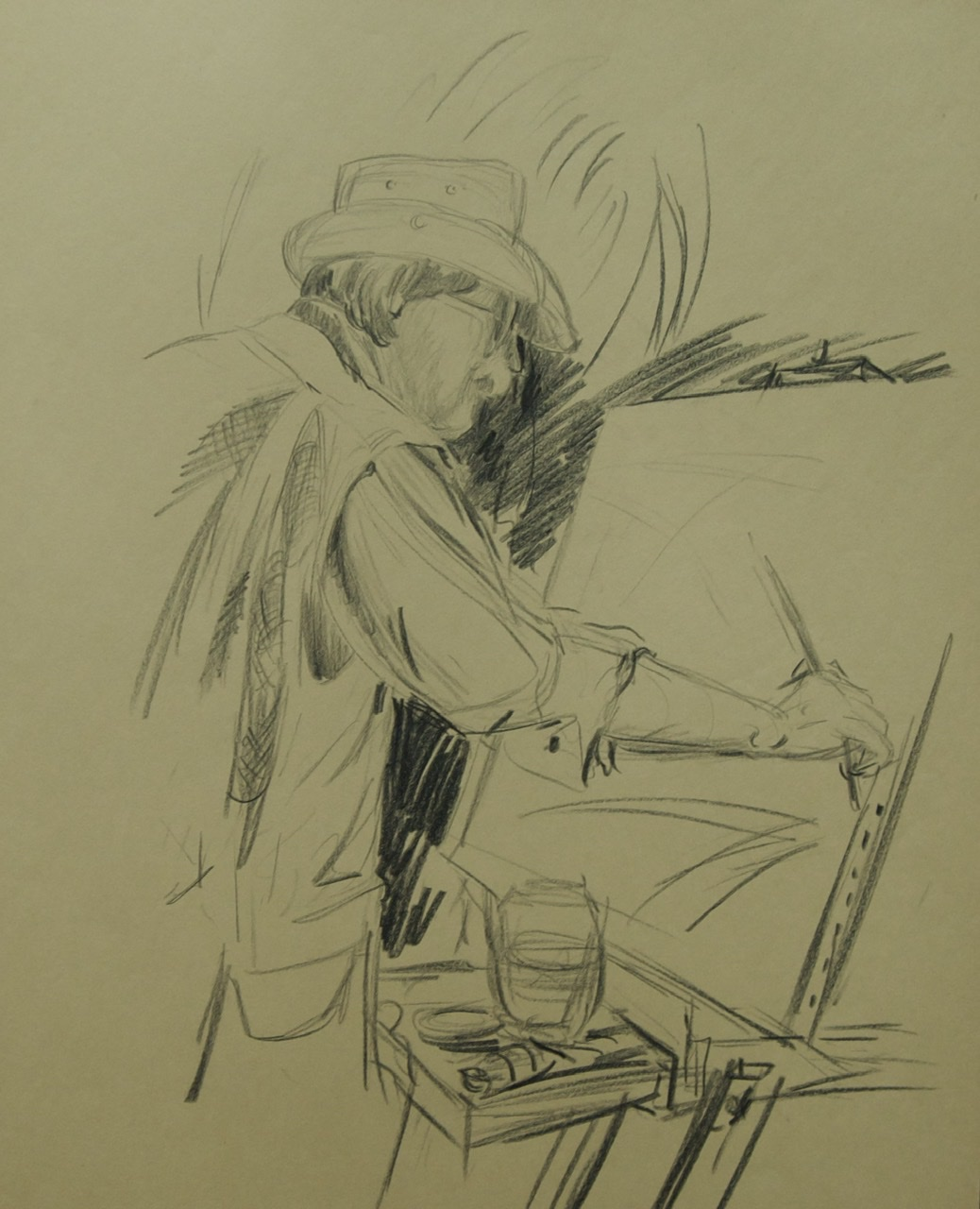 """<span style=""""color: #ff0000;""""><a style=""""color: #ff0000;"""" href=""""mailto:mussely@sympatico.ca?subject=Défi 15 dessins 15 semaines -  Autoportrait"""">Contacter l'artiste</a></span> Marcel Mussely -  Autoportrait - collection personnelle - graphite sur papier"""