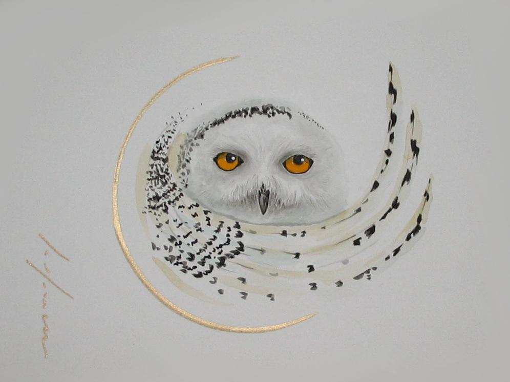 """<span style=""""color: #ff0000;""""><a style=""""color: #ff0000;"""" href=""""mailto:froy1956@gmail.com?subject=Défi 15 dessins 15 semaines -  Le Fascinant""""> Contacter l'artiste</a></span> Marie-France Roy -  Le Fascinant - 150$  (transaction directement avec l'artiste) - aquarelle, crayon pigment or sur carton aquarelle Fabriano - 9 x 12 po"""