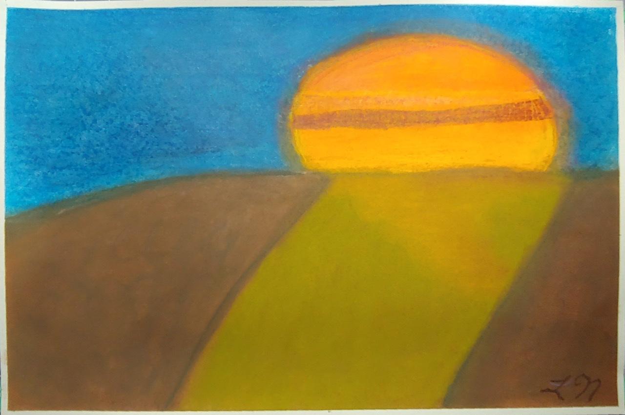 """<span style=""""color: #ff0000;""""><a style=""""color: #ff0000;"""" href=""""mailto:lucnadon7@gmail.com?subject=Défi 15 dessins 15 semaines -   Changement d'idée""""> Contacter l'artiste</a></span> Luc Nadon -   Changement d'idée - 25$  (transaction directement avec l'artiste), pastel sec sur papier Strathmore artagain, 12 x 18 po"""