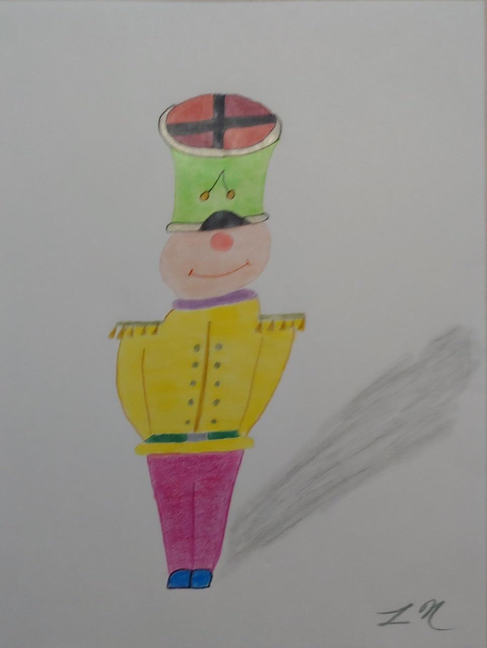 """<span style=""""color: #ff0000;""""><a style=""""color: #ff0000;"""" href=""""mailto:lucnadon7@gmail.com?subject=Défi 15 dessins 15 semaines -   Capitaine mauvais goût""""> Contacter l'artiste</a></span> Luc Nadon -   Capitaine mauvais goût - 20$  (transaction directement avec l'artiste), crayon sur papier Strathmore sketch, 12 x 9 po encadré"""